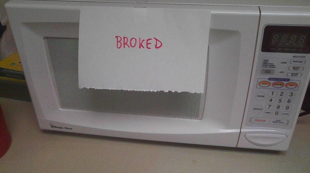 Broken Microwave English