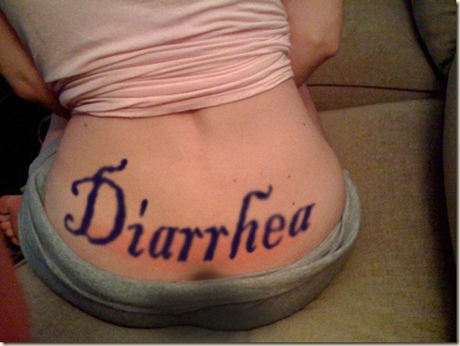 Diarrhea Tramp Stamp