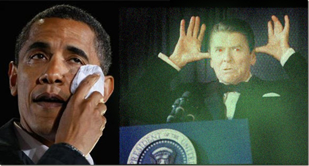 Reagan's Ghost VS Obama